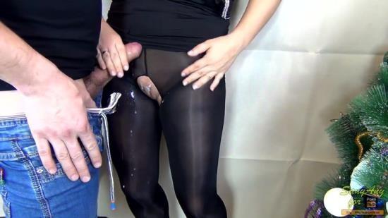Chaturbate - SanyAny, Alina Rose - CUMshot on Legs Nylon Compilation in stockingspantyhose (FullHD/1080p/133 MB)