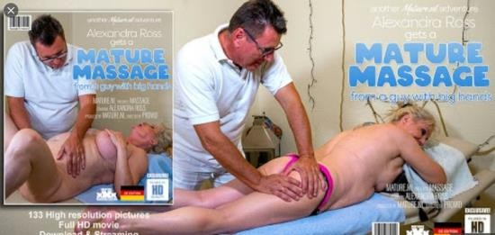 Mature.nl - Alexandra Ross (EU) (59) - Curvy Alexandra Ross gets a special massage (HD/720p/1.49 GB)