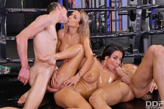 HandsOnHardcore/DDFNetwork/PornWorld - Shalina Devine, Anissa Kate - An XXX-Treme Workout Regimen (HD/720p/1.43 GB)