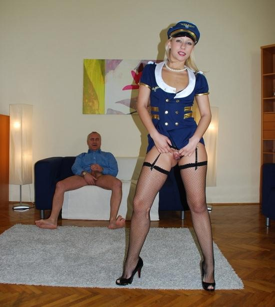 JimSlip - Candy - Teen in sexy airline outfit (SD/576p/540 MB)
