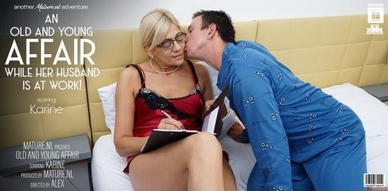 Mature.nl - Karine C. (53) - Mature Karine loves young men in her bed while her husbands at work (FullHD/1080p/1.15 GB)