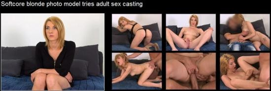 FakeAgent - Leona - Softcore blonde photo model tries adult sex casting (HD/720p/988 MB)