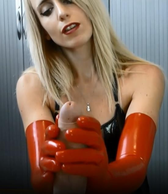 SammieCee - Sammie Cee - Red Long Latex Gloves Hand & Blowjob Preview (FullHD/1080p/89.7 MB)