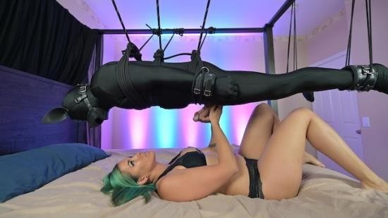 MelodyCheeks - Melody Cheeks - Rope suspension - Femdom milking and denial with handjob and blowjob tease (FullHD/1080p/242 MB)