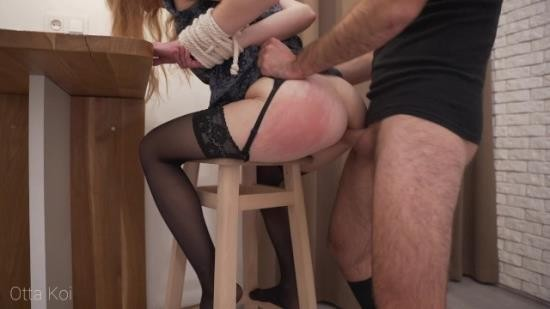 OttaKoi - Otta Koi - Rough spanking and loud moaning during hardcore fuck with tied up babe. Male domination (FullHD/1080p/342 MB)