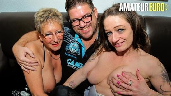 AMATEUREURO - Unknown - Big Tits German Grannies Rough Threesome Fuck With Lucky Stud (FullHD/1080p/264 MB)