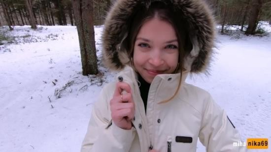 MihaNika69 - MihaNika69 - I love quick sex outdoors even in winter - Cum on my pretty face POV (FullHD/1080p/358 MB)