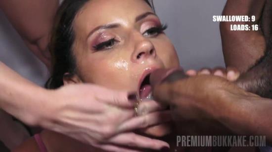 PremiumBukkake - Tiny Tina - Tiny Tina swallows 49 huge mouthful cumshots (FullHD/1080p/188 MB)