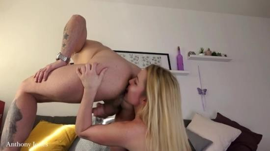AnthonyJonezs - Unknown - Spitting on hot blonde rimming each other ass cock riding creampie and piss play (FullHD/1080p/559 MB)