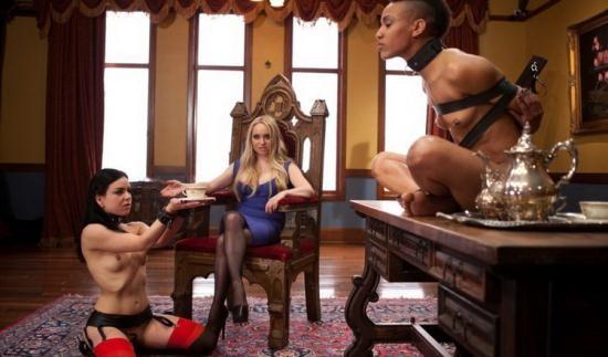 TheUpperFloor/Kink - Aiden Starr, Juliette March, Nikki Darling - Lesbian Pussy Service (HD/720p/2.15 GB)