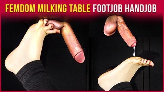 HouseofEra - Era - Milking Table FemDom Footjob and Handjob – Cum on Feet Era (FullHD/1080p/155 MB)