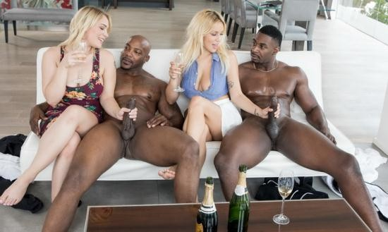 Blacked - Kylie Page, Hadley Viscara - Sorority Group Sex (HD/720p/1.99 GB)
