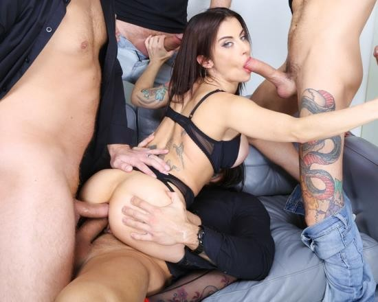 AnalVids, LegalPorno - Bianka Blue - 7 On 1 Double Anal Gangbang Goes Wet With Bianka Blue, Balls Deep Anal, DAP, Pee Drink, Gapes And Swallow GIO1734 (SD/1017 MB)