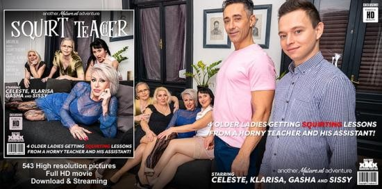 Mature.nl/Mature.eu - Celeste, Gasha, Klarisa, Sissy - four older ladies get teached how to squirt and then some! (FullHD/1080p/3.37 GB)