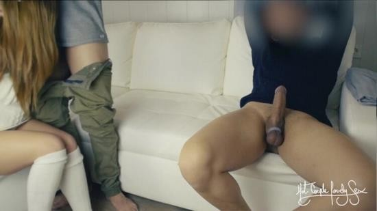Pornh - Hotcouplelovelysex - Cuckold threesome - Tied husband eats best friend s cum from wife s pussy (HD/720p/57.6 MB)
