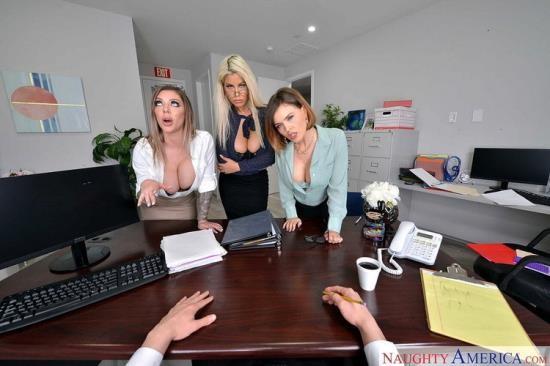 NaughtyAmericaVR - Bridgette B, Karma Rx, Krissy Lynn - The Big Tits Office (UltraHD 2K/1440p/3.88 GB)