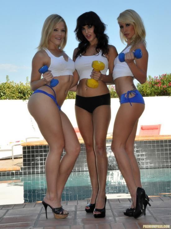 Sunnyleone - Sunny Leone, Alexis Texas, Monique Alexander - Get Fit To Fuck Pool Aquaaerobic (HD/720p/890 MB)