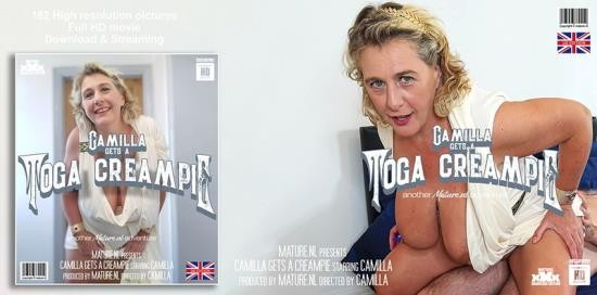 Mature.nl/Mature.eu - Camilla C. - Camilla dresses up in a toga and waiting for her pussy to be filled with a creampie (FullHD/1080p/1.46 GB)