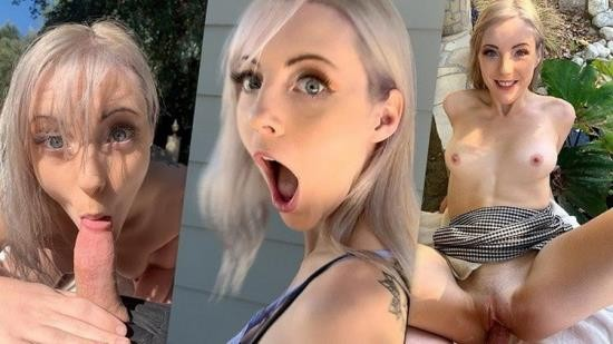 Porn - JAMIE JETT - Blonde Public Sex after Crashing Porn Set (FullHD/1080p/1.02 GB)