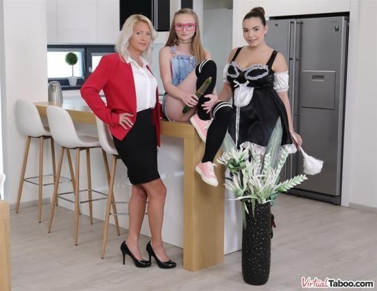VirtualTaboo - Kathy Anderson, Lady Bug, Sofia Lee - Family Cleaner Got Her Yearly Bonus (UltraHD 4K/2700p/4.21 GB)
