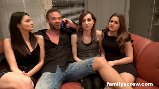 FamilyScrew - Valentina Sierra, Sereyna Gomez, Jana - Family house party part 1 (FullHD/1080p/2.27 GB)
