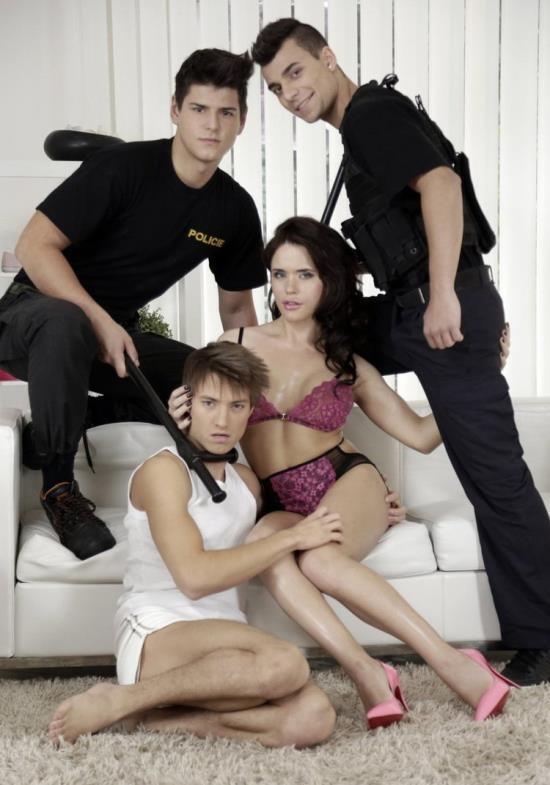 Staxus - Joshua Levy, Nick Vargas, Shane Hirch, Sasha Shatalova - Police Give A Deep-Fucked Interrogation For One Hot She-Male! (HD/720p/829 MB)
