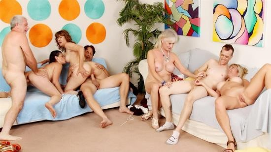 Goldenslut - Sky Haven, Babe Morgan, Michele Marks, Leah L'Amour - Aged to Perfection Orgy (FullHD/1080p/3.64 GB)