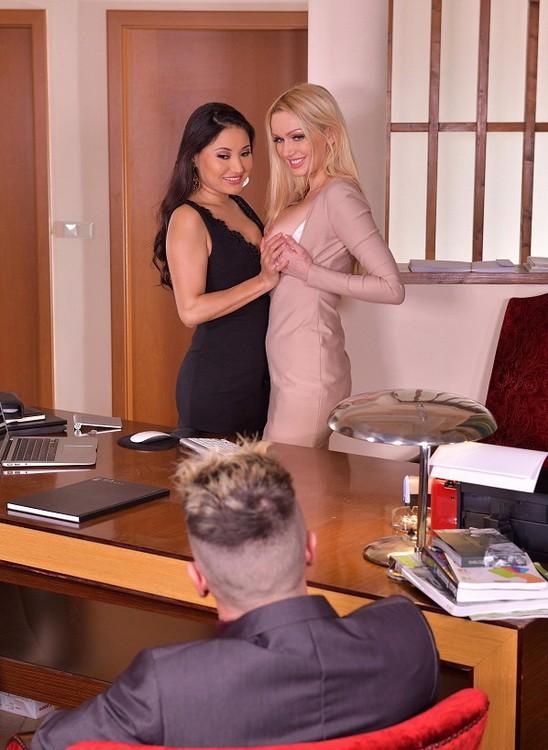 HandsOnHardcore/DDFNetwork - Amber Jayne, Cristina Miller - Threesome Rimming Thirst (FullHD/1080p/1.72 GB)