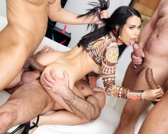 AnalVids, LegalPorno - Jessy Jey - DAP And Squirt With Jessy Jey, 4 On 1, Anal Fisting, DAP, Gapes, Squirt Drink, Creampie Swallow And Cumswallow GL434 (SD/876 MB)