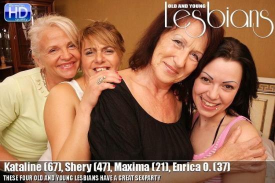 Old-and-Young-Lesbians/Mature.nl - Kataline,Shery,Maxima,Enrica O. - lesbian-alex265 (HD/720p/1010 MB)