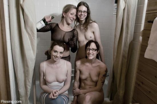 Pissing/Kink - Dia, Amber, Kristine, Nina - Pissing (FullHD/1080p/1.33 GB)