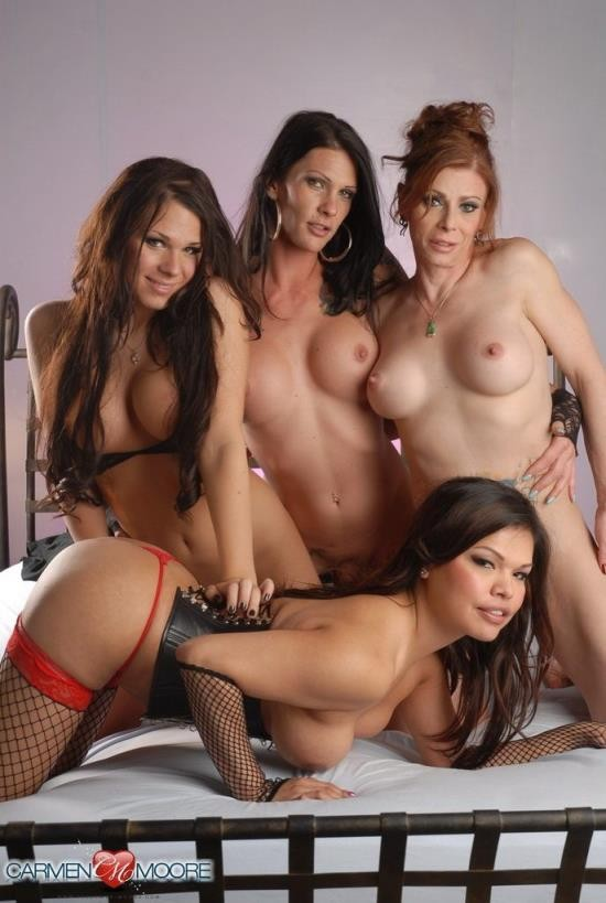 Ashley-George - Ashley George, Morgan Bailey, Jasmine Jewels, and Carmen Moore - Hardcore (FullHD/1080p/1.44 GB)