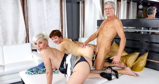 GrandParentsX - Amber Deep, Kathy White - Horny Teen Learn How To Fuck Hard (FullHD/1080p/2.52 GB)