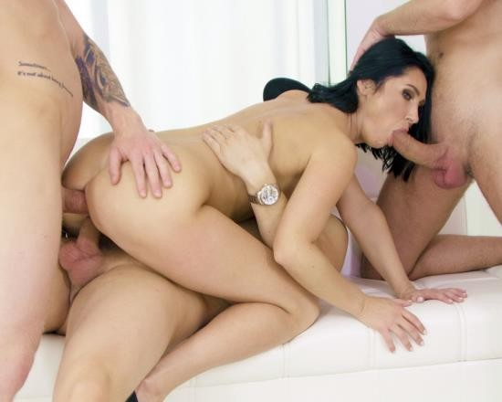 AnalVids, LegalPorno - Eva Black - First DAP 4 On 1 For Eva Black With DP, Balls Deep Anal, Pee Drink, Gapes And Cum In Mouth VG016 (SD/1.24 GB)