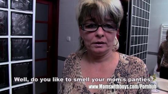 MomsWithBoys - Unknown - Grey Haired Stepmom Fucks Her Bathroom Jerking Stepson (UltraHD 4K/2160p/1.60 GB)