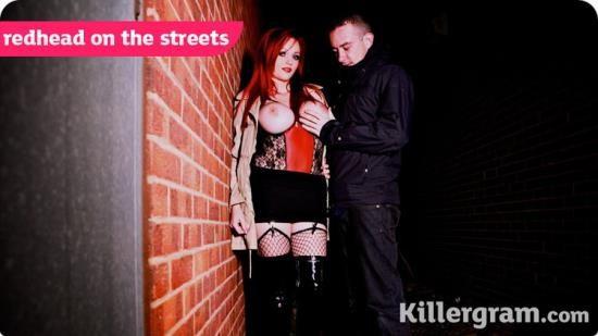 UkStreetwalkers/Killergram - Jasmine James - Redhead On The Streets (FullHD/1080p/1.38 GB)