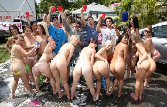 CollegeRules - Unknown - College Orgy Car Wash (HD/720p/1.36 GB)