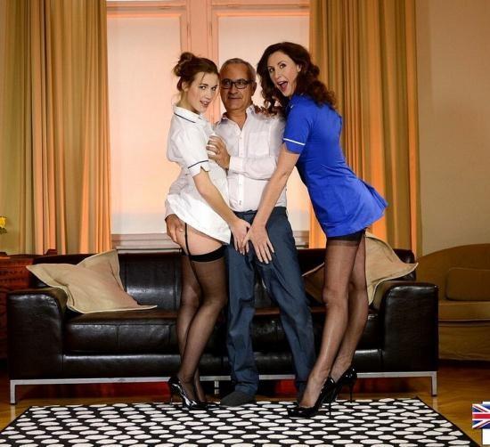 JimSlip - Alexis (Alexis Crystal) ,Lara Latex - Crazed Nurse Threesome! (HD/720p/835 MB)