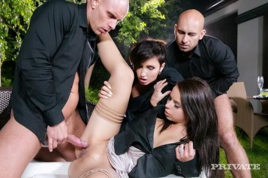 Private - Ferrera Gomez, Gabrielle Gucci - Ferrera and Gabrielle Start an Outdoor Orgy with Both of Their Dates (FullHD/1080p/792 MB)