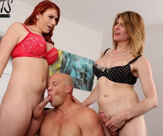 Pure-TS - Delia Delions, Aspen Brooks - Delia teaches Aspen how to properly fuck a man (FullHD/1080p/1.47 GB)