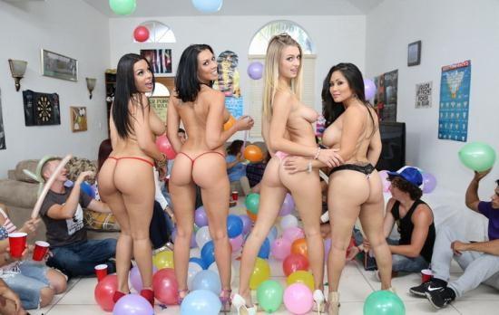 DormInvasion/BangBros - Rachel Starr, Jessica Bangkok, Luna Star, Natalia Starr - Fucking Porn-Stars At A Dorm Party (HD/720p/1.34 GB)