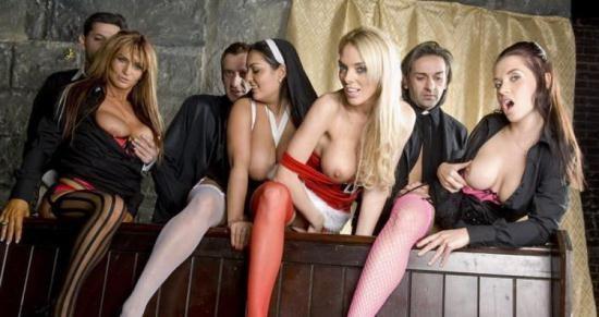 GroupSexGames - Jasmine Black, Bo, Kaia Kane, Stacey Saran - Have Faith Vicars And Tarts (FullHD/1080p/1.33 GB)