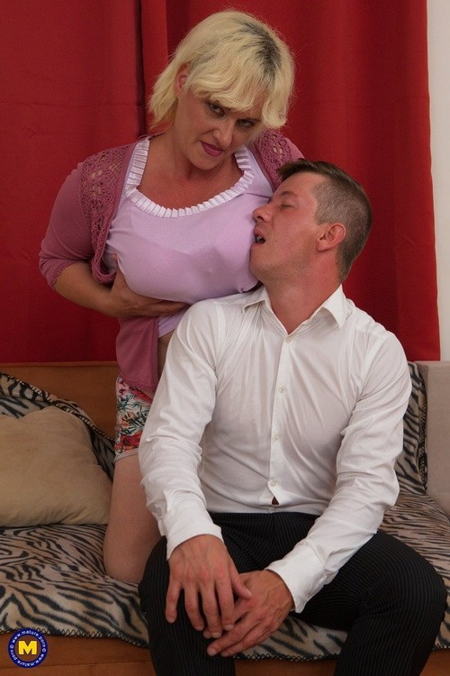 Mature.nl/Mature.eu - Agness (43) - big breasted temptress doing her toyboy (FullHD/1080p/1.62 GB)