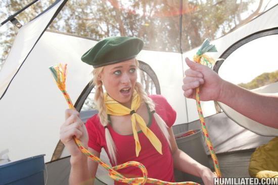 Disgraced18/Humiliated/PornPros - Rebecca Blue - Girl Scout Rebecca Pitches Tents (HD/720p/1.83 GB)