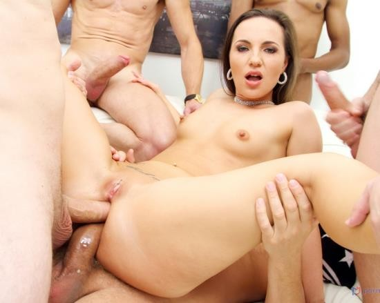 AnalVids, LegalPorno - Kristy Black - Kristy Black 6 On 1 Double Anal Gangbang And Piss Drinking SZ2761 (HD/1.91 GB)