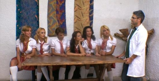 Tranny/TrannyGangbanged - Unknown - Ultra-Hot Shemale Schoolgirls Group-Fuck Teacher (HD/720p/967 MB)