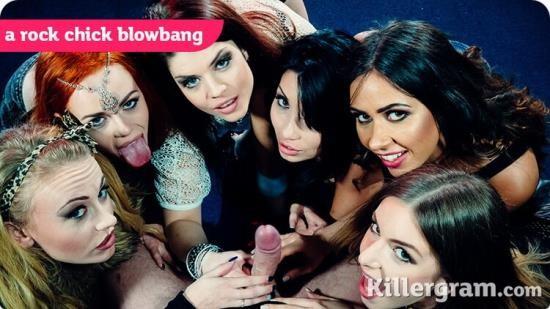 KillerGram - Roxy Lea, Stella Cox, Lucia Love, Ella Hughes, Rina Ellis and Carmel Anderson - A Rock Chick Blowbang (FullHD/1080p/611 MB)