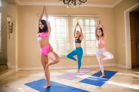 GirlsWay - Adriana Chechik, AJ Applegate, Megan Rain - Squirting Stories Volume Two: Wet Yoga (FullHD/1080p/1.59 GB)