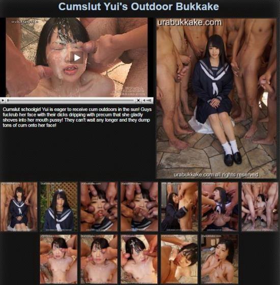 UraBukkake - Yuis - Cumslut Yuis Outdoor Bukkake (FullHD/1080p/1.08 GB)